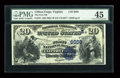 National Bank Notes:Virginia, Clifton Forge, VA - $20 1882 Value Back Fr. 581 The First NB Ch. #(S)6008. ...