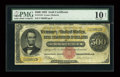 Large Size:Gold Certificates, Fr. 1216 $500 1882 Gold Certificate PMG Very Good 10 Net....