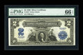 Large Size:Silver Certificates, Fr. 256 $2 1899 Silver Certificate PMG Gem Uncirculated 66 EPQ....