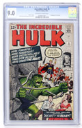 Silver Age (1956-1969):Superhero, The Incredible Hulk #5 (Marvel, 1963) CGC VF/NM 9.0 Off-white to white pages....