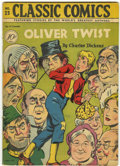 Golden Age (1938-1955):Classics Illustrated, Classic Comics #23 Oliver Twist - First Edition (Gilberton, 1945) Condition: VG+....