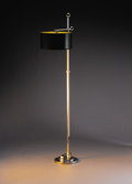 Decorative Arts, American:Lamps & Lighting, DONALD DESKEY (American, 1894-1989). A Chrome Plated Metal Floor Lamp, probably manufactured by Deskey-Vollmer, circa 1930. ... (Total: 2 Items)