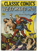 Golden Age (1938-1955):Classics Illustrated, Classic Comics #14 Westward Ho! - First Edition (Gilberton, 1943) Condition: VG+....