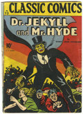 Golden Age (1938-1955):Classics Illustrated, Classic Comics #13 Dr. Jekyll and Mr. Hyde - First Edition (Gilberton, 1943) Condition: GD+....