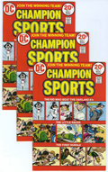 Bronze Age (1970-1979):Miscellaneous, Champion Sports #1 Multiple Copies Group (DC, 1973) Condition:Average NM....