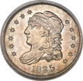 Bust Half Dimes, 1835 H10C Large Date, Small 5C MS65 NGC....