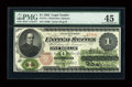 Fr. 17a $1 1862 Legal Tender PMG Choice Extremely Fine 45