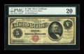 Large Size:Silver Certificates, Fr. 260 $5 1886 Silver Certificate PMG Very Fine 20....