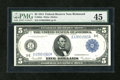 Fr. 863a $5 1914 Federal Reserve Note PMG Choice Extremely Fine 45