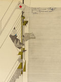 Decorative Prints, American:Prints, FRANK LLOYD WRIGHT (American, 1867-1959). A Handwritten Letter tohis son David and daughter-in-law Gladys with original env...