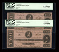 Confederate Notes:1862 Issues, T54 $2 1862 Two Consecutive Examples.. ... (Total: 2 notes)