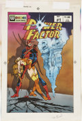 Original Comic Art:Covers, Tom Vincent Power Factor #1 Hand-Colored Cover ProductionOriginal Art (Wonder Color Comics, 1987)....