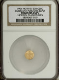 Expositions and Fairs: , 1904 Louisiana Purchase Expo 1/4 Gold MS65 Prooflike NGC. 14 stars. Hendershott-61-320. A prooflike Gem struck from heavily ...