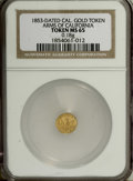 "California Gold Charms: , ""1853"" Arms of California MS65 NGC. ..."