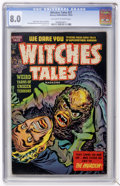 Golden Age (1938-1955):Horror, Witches Tales #21 (Harvey, 1953) CGC VF 8.0 Off-white to whitepages....