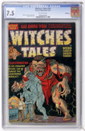 Golden Age (1938-1955):Horror, Witches Tales #14 Bethlehem pedigree (Harvey, 1952) CGC VF- 7.5Off-white pages....