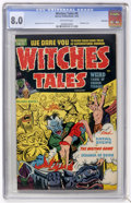 Golden Age (1938-1955):Horror, Witches Tales #9 Bethlehem pedigree (Harvey, 1952) CGC VF 8.0Off-white pages....