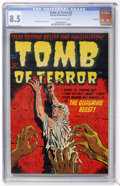 Golden Age (1938-1955):Horror, Tomb of Terror #2 River City pedigree (Harvey, 1952) CGC VF+ 8.5Off-white to white pages....