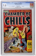 Golden Age (1938-1955):Horror, Chamber of Chills #7 (Harvey, 1952) CGC FN/VF 7.0 Off-whitepages....