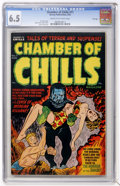 Golden Age (1938-1955):Horror, Chamber of Chills #11 File Copy (Harvey, 1952) CGC FN+ 6.5 Cream tooff-white pages....