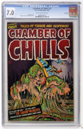 Golden Age (1938-1955):Horror, Chamber of Chills #12 File Copy (Harvey, 1952) CGC FN/VF 7.0 Tan tooff-white pages....