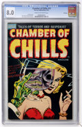 Golden Age (1938-1955):Horror, Chamber of Chills #19 File Copy (Harvey, 1953) CGC VF 8.0 Cream tooff-white pages....