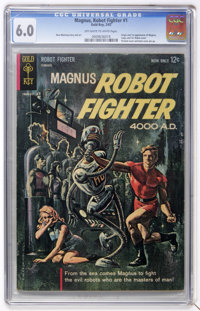 Magnus Robot Fighter #1 (Gold Key, 1963) CGC FN 6.0 Off-white to white pages