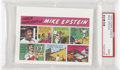 Baseball Cards:Singles (1970-Now), 1973 Topps Comics Test Issue Mike Epstein PSA Mint 9....