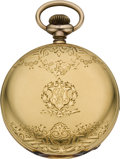 Timepieces:Pocket (post 1900), Waltham 21 Jewel Gold Cased Crescent St., circa 1907. ...