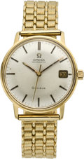 Timepieces:Wristwatch, Omega Men's Gold Automatic Wristwatch, circa 1960. ...