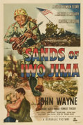 "Movie Posters:War, Sands of Iwo Jima (Republic, 1950). One Sheet (27"" X 41"") StyleB...."
