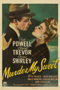 "Movie Posters:Film Noir, Murder, My Sweet (RKO, 1944). One Sheet (27"" X 41"")...."