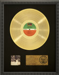 Music Memorabilia:Awards, Graham Nash Songs for Beginners RIAA Gold Album Award. ...