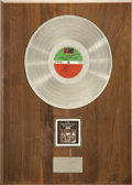Music Memorabilia:Awards, Crosby, Stills, Nash & Young Deja Vu Platinum AlbumAward....