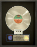 Music Memorabilia:Awards, Crosby, Stills & Nash Daylight Again RIAA Platinum AlbumAward....