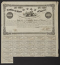 Confederate Notes:Group Lots, Ball 95 Cr. 93 $1000 Bond 1861 Fine. . ...