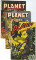 Golden Age (1938-1955):Science Fiction, Planet Comics #1, 58, and 70 Group (Fiction House/IW, 1949-53)....(Total: 3 Comic Books)