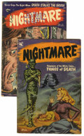 Golden Age (1938-1955):Horror, Nightmare #11 and 12 Group (St. John, 1954).... (Total: 2 ComicBooks)