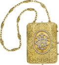 Estate Jewelry:Purses, Diamond, Gold Miniaudière, French, circa 1919. ... (Total: 2 Items)