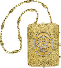 Diamond, Gold Miniaudière, French, circa 1919