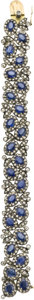 Estate Jewelry:Bracelets, Sapphire, Diamond, Silver-topped Gold Bracelet. ...