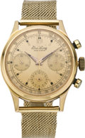 Timepieces:Wristwatch, Breitling Men's Premier Waterproof Rose Gold Chronograph, circa1950. ...