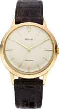 Timepieces:Wristwatch, Rolex Men's Large Rose Gold Wristwatch, circa 1950. ...
