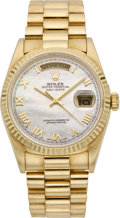 Timepieces:Wristwatch, Rolex Men's President with Mother-of-Pearl Dial, ref. 18200, circa 1995. ...