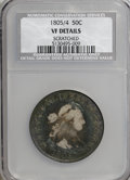 Early Half Dollars, 1805/4 50C --Scratched--NCS. VF Details....