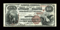National Bank Notes:Colorado, Greeley, CO - $10 1882 Brown Back Fr. 484 The Greeley NB Ch. #(W)4437. ...
