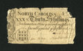 Colonial Notes:North Carolina, North Carolina March 9, 1754 30s Very Fine, Repaired....