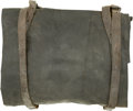 Military & Patriotic:Civil War, Illinois Infantryman's Knapsack, of unusual design. Made of the standard tarred cotton, this knapsack is in excellent condit...