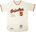 Autographs:Jerseys, Brooks Robinson Signed Throwback Jersey....