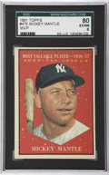 Baseball Cards:Singles (1960-1969), 1961 Topps Mickey Mantle #475 SGC 80 EX/NM 6....
